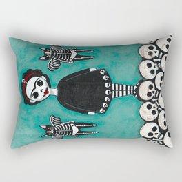 Day of the Dead Cats 8 Rectangular Pillow