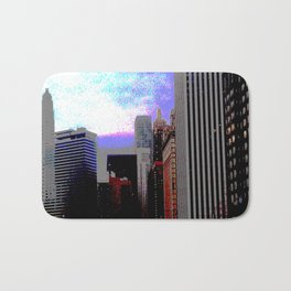 Chicago; Posterized Bath Mat