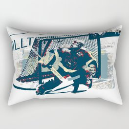 Goalie - Ice Hockey Player Rectangular Pillow