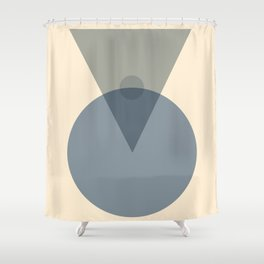 Geometric Connection 03 Shower Curtain