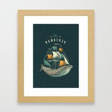 Whale | Petrol Grey Framed Art Print