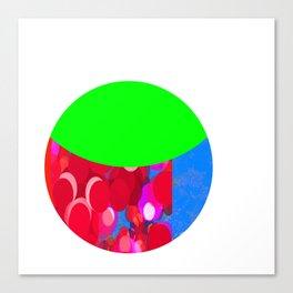 SexyPlexi dots  colourful moon  Canvas Print