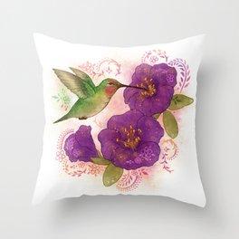 Pollinator Animals- Hummingbird Throw Pillow