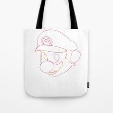 One line Supermario Tote Bag