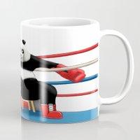 boxing Mugs featuring Boxing Panda by Joker-laugh