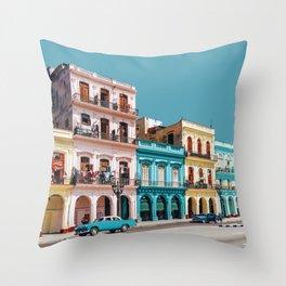 Havana, Cuba Travel Artwork Throw Pillow