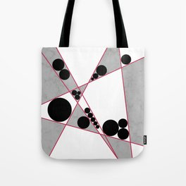 Contemporary Geometric Grey Marble Design Tote Bag