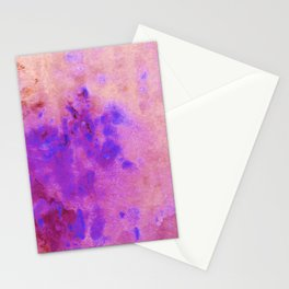 Blue Splatters on Purple Abstract Artwork Stationery Cards