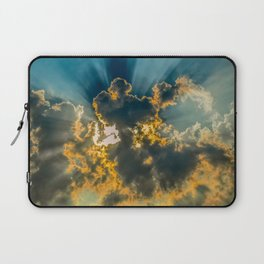 Sun Coming Through the Clouds Laptop Sleeve