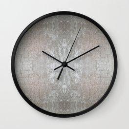 Silver Velvet Snake Pattern Wall Clock