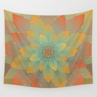 lotus flower Wall Tapestries featuring Lotus by HK Chik