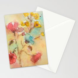 Vintage flowers (watercolor) Stationery Cards