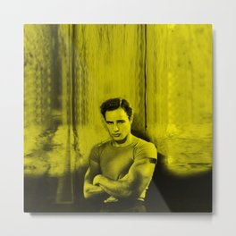 Marlon Brando - Celebrity (Florescent Color Technique) Metal Print