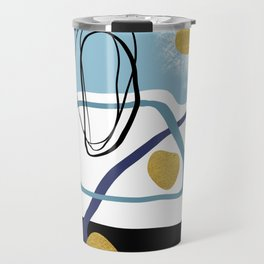 Modern minimal forms 10 Travel Mug