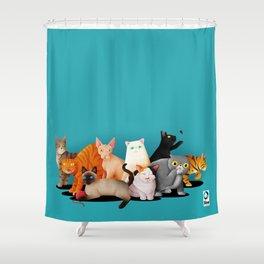 Gatos / Cats Shower Curtain