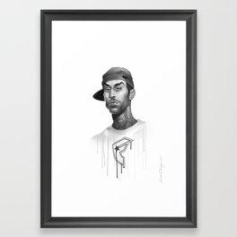 Strapped & Famous Framed Art Print