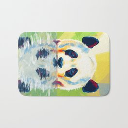 Panda taking a bath Bath Mat