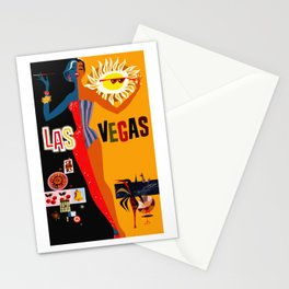 Vintage Las Vegas Travel Poster Stationery Cards