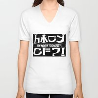 cowboy bebop V-neck T-shirts featuring Chuggalo Bebop by How Much Can You Chug Foo?!