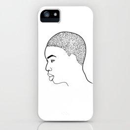 Beautiful Afro Profile iPhone Case