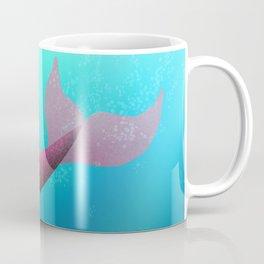 Underwater Swimming Mermaid Fins Red Coffee Mug