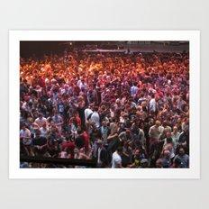 Crowds Art Print