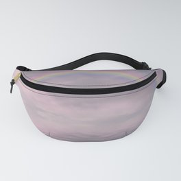 Magic Rainbow Over Water In Surreal Pink Light Fanny Pack