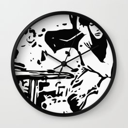 Cafe Girl Wall Clock