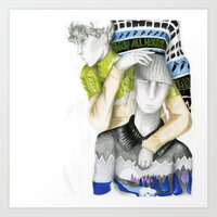 kenzo Art Prints featuring Kenzo by Johnathan Hayden