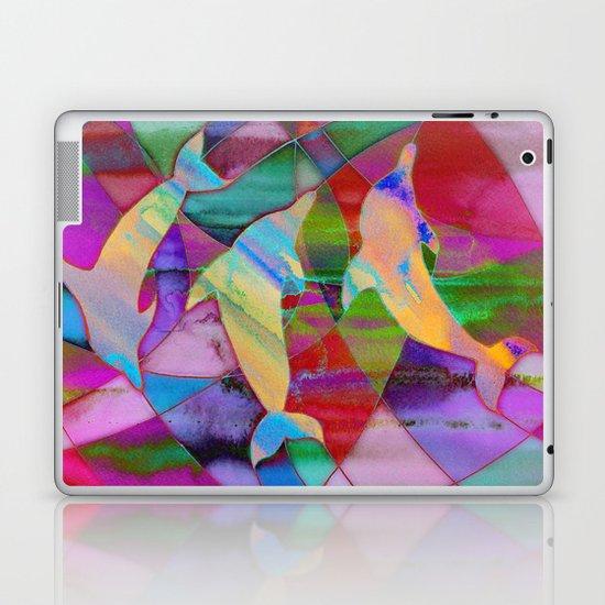 Caught in rainbow nets Laptop & iPad Skin