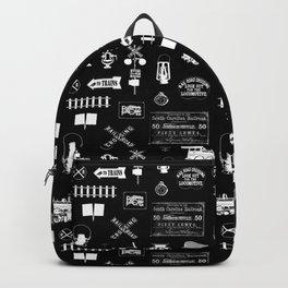 Railroad Symbols on Black Backpack