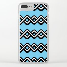 Digital weave Clear iPhone Case