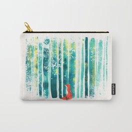 Fox in quiet forest Carry-All Pouch