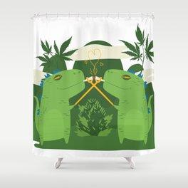 Jurassic Weed Shower Curtain