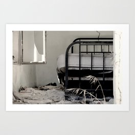Unmade bed Art Print