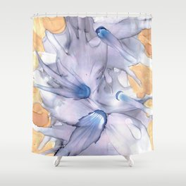 Lavender Floral Abstract: Original Alcohol Ink Painting Shower Curtain
