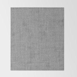 Natural Woven Silver Grey Burlap Sack Cloth Throw Blanket