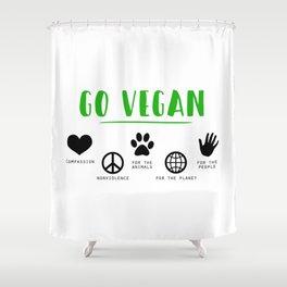 Go Vegan Shower Curtain