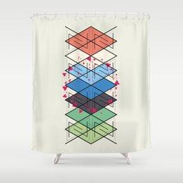 Fractal pattern Shower Curtain