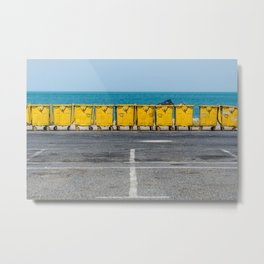 Yellow Containers Metal Print
