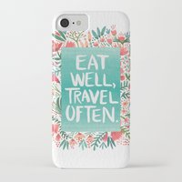 eat iPhone & iPod Cases featuring Eat Well, Travel Often Bouquet  by Cat Coquillette