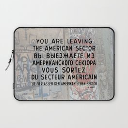 Checkpoint Charlie Signage, Berlin Wall Laptop Sleeve