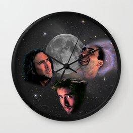 3 Cage Moon Wall Clock