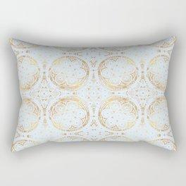 power of one: powder blue + copper Rectangular Pillow