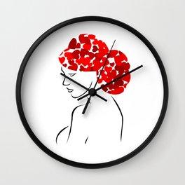 Love in my hair Wall Clock