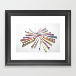 Crayon Love 2  Framed Art Print