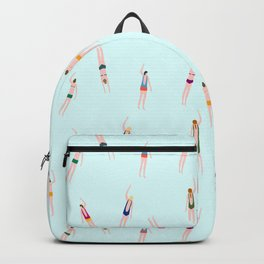 Swimmers in the pool Backpack