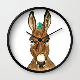 Ane au chapeau Wall Clock