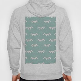 Mint Sleeping Eyes Of Wisdom - Pattern - Mix & Match With Simplicity Of Life Hoody