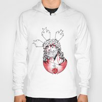 christ Hoodies featuring Christ by Morgan Soto